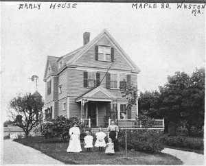 Early photograph of Maple Road house