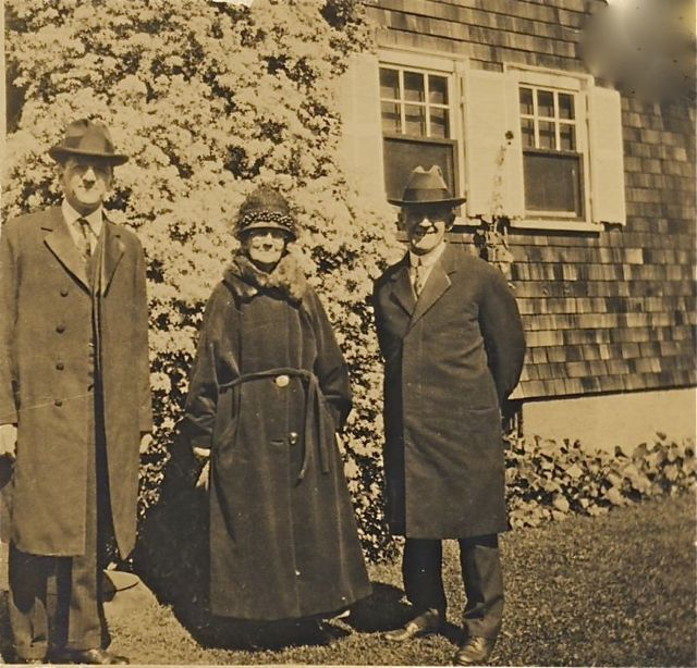 Mr. and Mrs. Edward Jennings and their son Levi