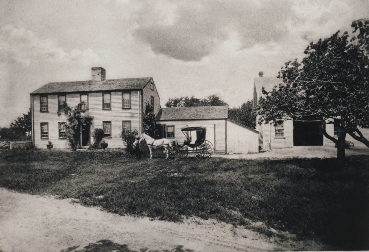 Early photo of the Jennison/Jennings House at 266 Glen Road