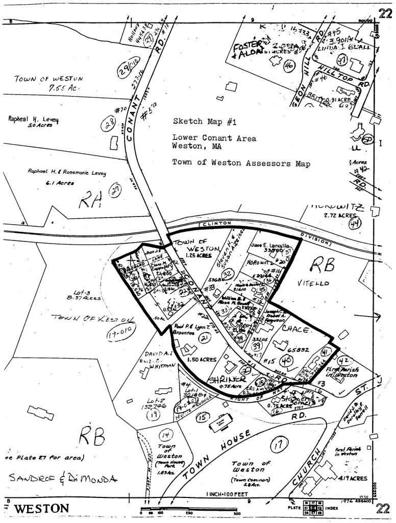 Lower Conant Area map