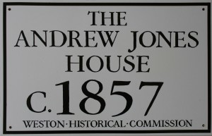 The Andrew Jones House, c. 1857, Weston Historical Commission