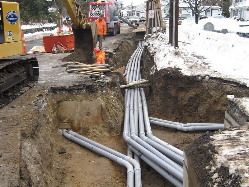 Conduit Placement Near Colpitts Road