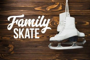 Wooden sign with the words Family Skate