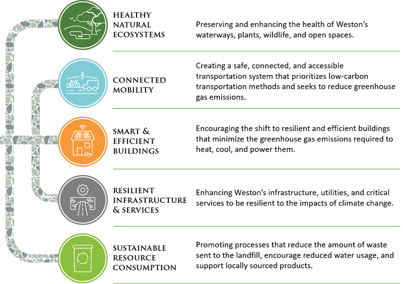 graphic buttons of the 5 plan elements with text explaining each