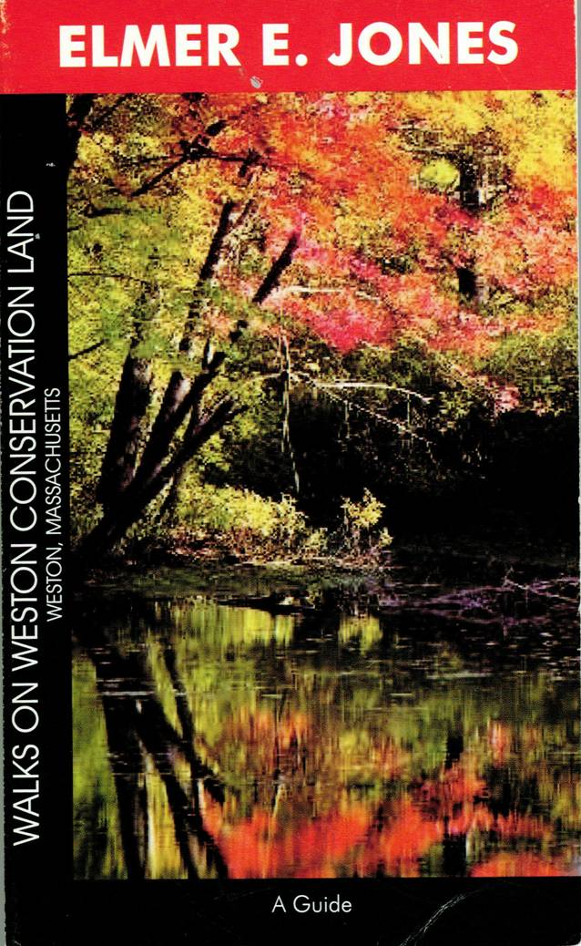 book cover showing tree foliage and a pond